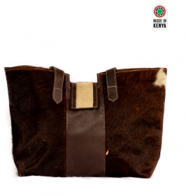Brown fur handbag